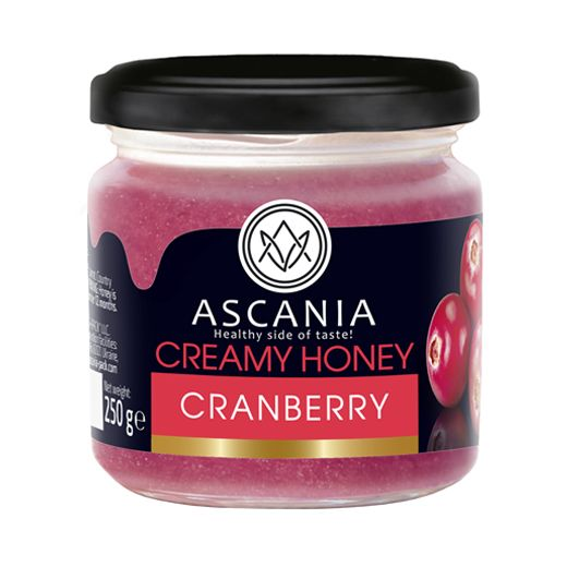 Creamy honey with CRANBERRY