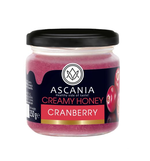 Creamy honey with CRANBERRY